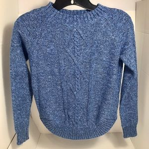 🌹SO... Blue Ribbed Knit Sweater